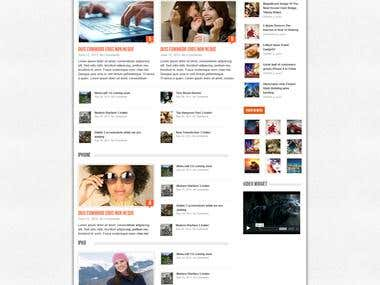 Mobile WordPress Theme