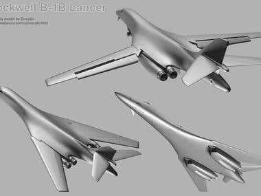 3D models: Military Planes