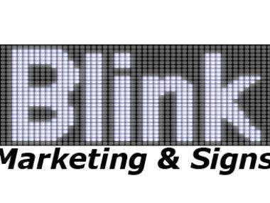 Blink Marketing & Signs logo entry for contest #2