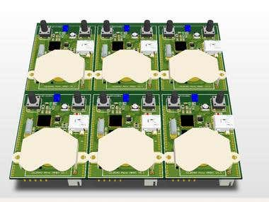 Bluetooth PCB panelized