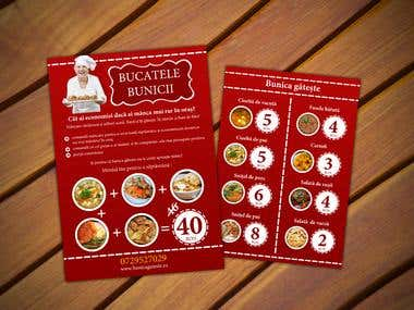 Flyer design for Romanian Restaurant