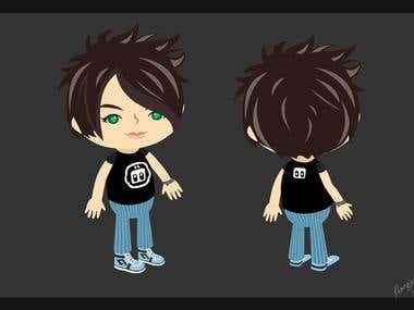 Character Created in Adobe Flash