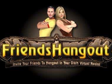 FriendsHangout.com 3D virtual world social