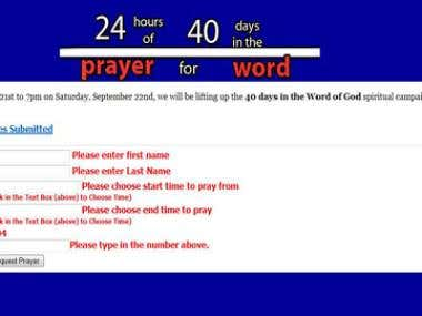 Life Community Church Prayer Vigil Application