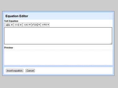 Online Equation Editor