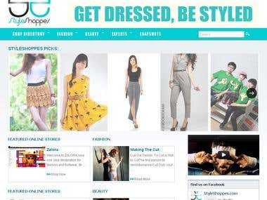 Styleshoppes Website developed by my team