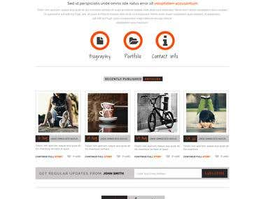 Portfolio Website for a USA based client