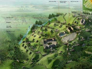 BirdView Architecural Rendering