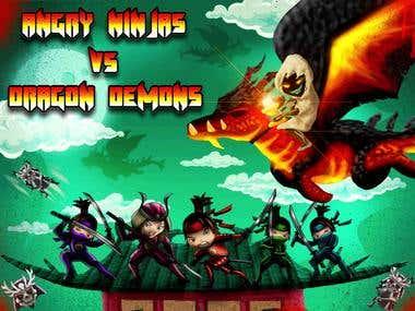 Sling Ninjas VS Dragon Demons