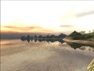 Unity 3D demo island (Web)