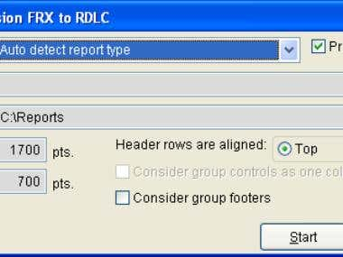 Frx to Rdlc report converter