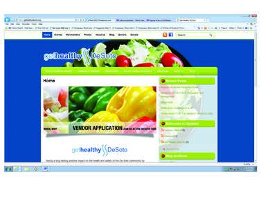 Screenshot of Get Healthy DeSoto Inc.'s website