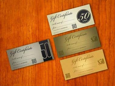 Gift Certificates & Coupons