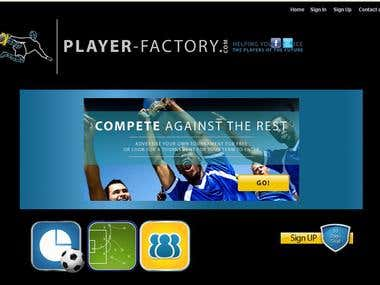 I worked on customization Player-factory.com (Social Engine)
