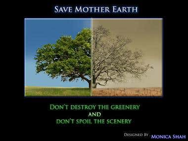 Wallpaper- Save trees