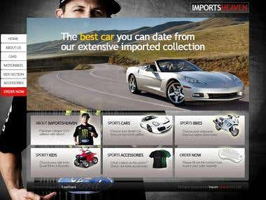 Web Design for Imports Heaven