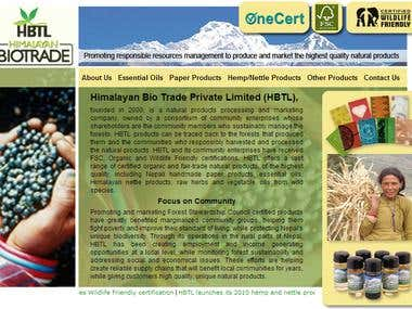 Himalayan Biotrade Limited website.