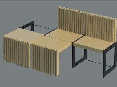 Renderings of furniture designs