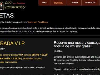 Los Iracundos en Londres concert venue website