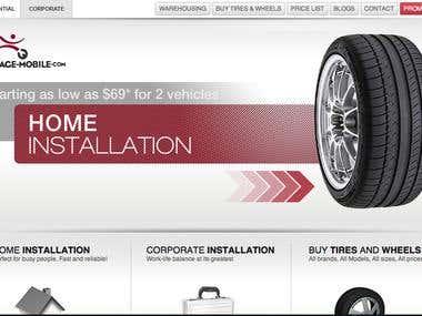 Garage Mobile Website