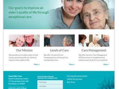 Sesen Elder Care Website