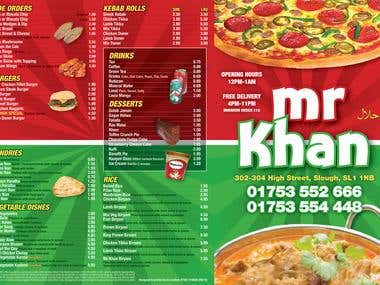 Takeaway Menu Design