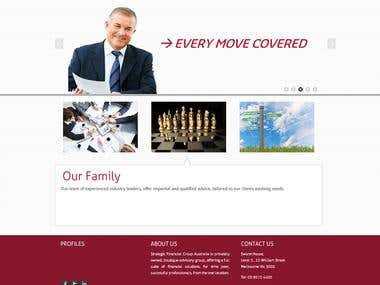 Strategic Finance Wordpress Based Site