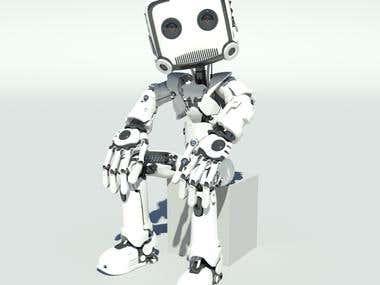 3D Robot Mascot