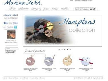 Web design and web development for MarinaFehr.com