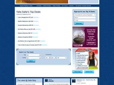 Travel Site Created in Joomla