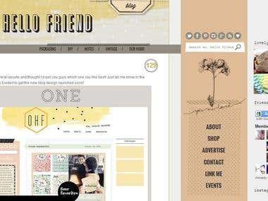 Oh Hello Friend Blog Design