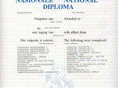 National Diploma in Accounting