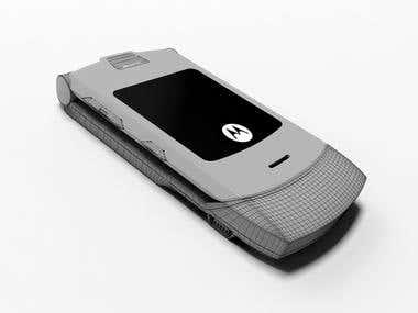 """3D Modeling """"Motorola V3"""""""
