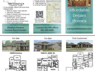Trifold brochure for Custom Home Builder