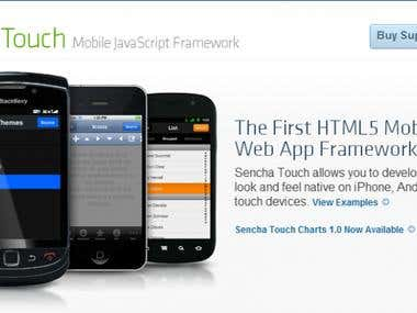 Mobile Applications using Sencha Touch