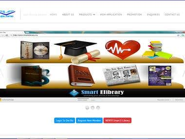 Design and Develop Website For Smart E-Library