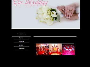 this is website for receiption hall