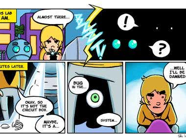 Comic Page Robot (2) (own works)