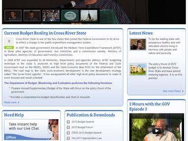 CrossRiver Government Website