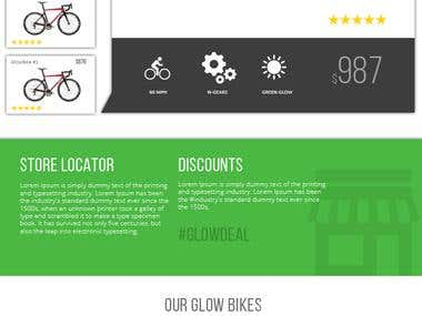 Website Design for Glow Bicycles