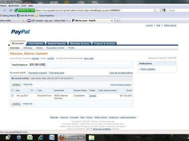 VERIFIED PAYPAL PAYMENT