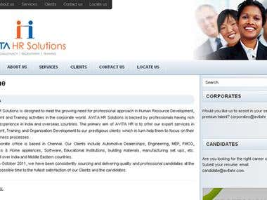 HR Consultant Website