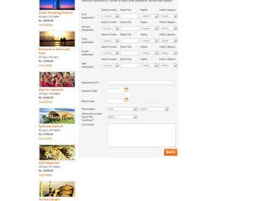 Travel and booking website