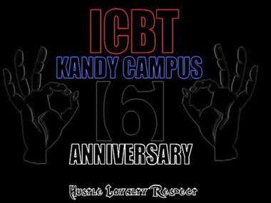 Banner for campus anniversary