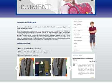 Namibia Client School Cloth Wear Website