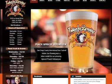 Wordpress site for a Brewing firm