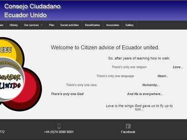 Conceu - Consejo ciudadano ecuador unido website