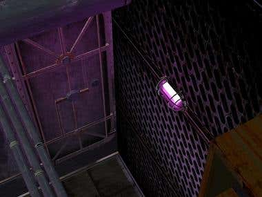 3D Industrial Basement Interior