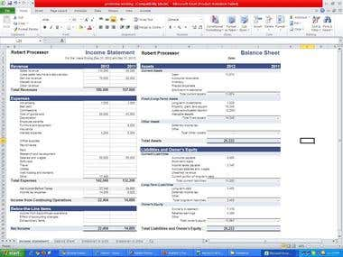 Financial reporting and income statement and balance sheet