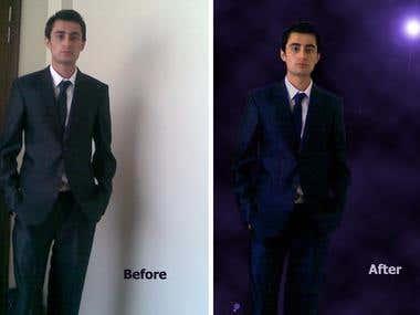 Change background